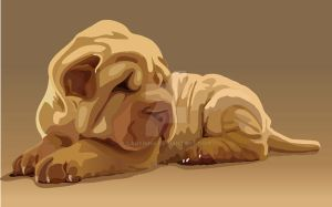 Vector lovely puppy by ladyinna