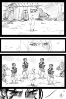 Kakashi and Anko comic scrap: Survive1 by KickBass77