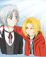 Allen Walker and Edward Elric [DGM/FMA Crossover] by FlorideCuts