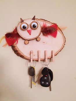 Owly Key Holder by Magical-Me