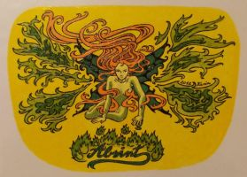 Absinthe bottle-sticker by KarinM