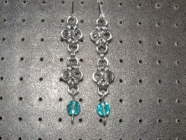 Chainmaille Earring 20 by Des804