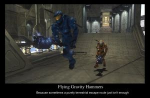 Flying Gravity Hammers by compositecoyote
