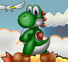 Yoshi's Island by Ink-Leviathan