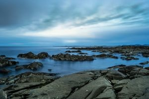 Long exposure of the beach in Tasmania. by megouskiz00ms
