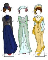 Betsy Jane Gowns color by electricjesuscorpse