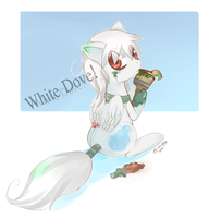 White dove by SteamingOwl