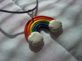 Rainbow necklace by jely-claris-anne
