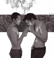 Smoking Sterek by Shamanmy
