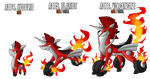 Fakemon: A004 - A006 - Alternate Fire Starter by MTC-Studio