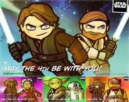 STAR WARS 'May the 4th' eCARDS by grantgoboom