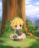 .Link and Pigs. by lNeko-Hime