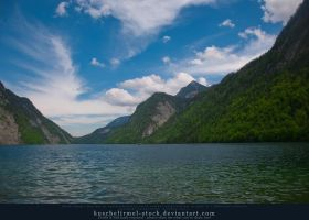 Alpine Lake - Clear Water - Mountains 02 by kuschelirmel-stock