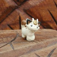 Mini Meowth Sculpture by LeiliaK