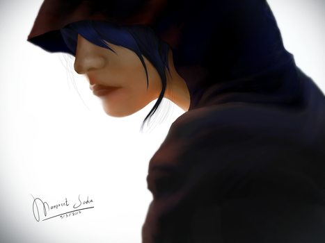 Hooded Woman by Sipunex