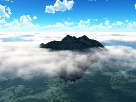 Mountain in the Clouds by kellymlacy