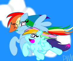 Mother and Daughter-Flying Together by PokeWarriorMelodies
