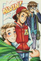 Copic Marker Alvin and the Chipmunks by LemiaCrescent