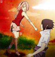 SasuSaku: Fighting against me [COLOR] by JullCruz