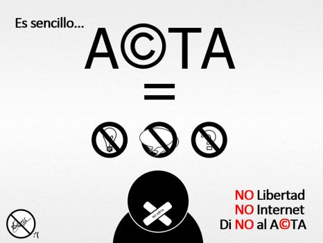 Di NO al ACTA by leozerosty
