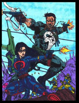 Punisher and Baroness by CDL113