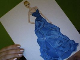Blue Gown Illustration by lygicaphisalogue