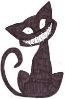 The Creepy Cat Stare by DarkPanther419