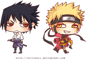 Naruto - Chibis by spicyroll