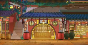 Night Market Background by the10s