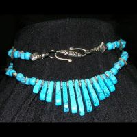 Gemstone  Fan Necklace by shrela
