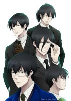 [Psycho-Pass] Fanbook cover green light by saeko-doyle