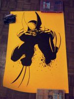 Wolverine marker drawing by Shaka-zl