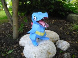 Totodile papercraft by TimBauer92