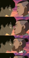 Sokka and Zuko kiss scene by AlexxMMB