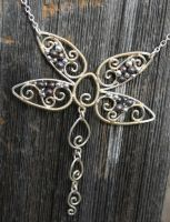 Silver Filigree Dragonfly by goddessccoa