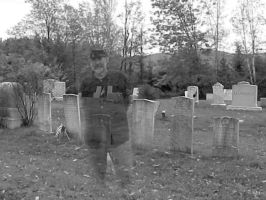 Ghost in the Graveyard by jerrinator