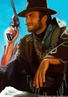 Clint Eastwood by De-monVarela