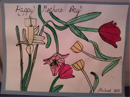 Happy Mother's Day Flower Painting by MichaelPerrone
