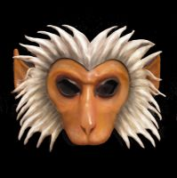 Leather Monkey Mask macaque Hanuman by teonova