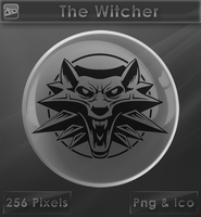 The Witcher [Glass Icon] by VoidSentinel