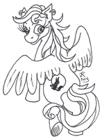 Gift for LycanDrake2828 Lineart by VampirateMace