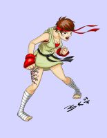 Sakura Street Fighter 4 by BobboWonder
