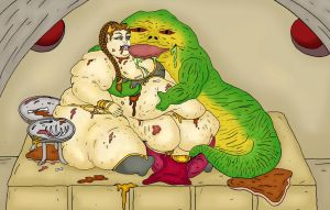 Leia and Jabba by ScareGlow