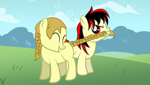 Raven and Lassie Jack Play (request) by ThatFatBrony