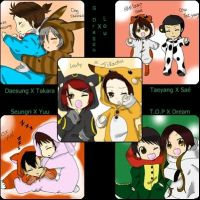 BigBang with girls by kairi-tenchii