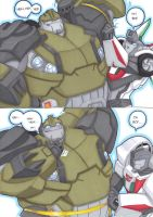 wheeljack and bulkhead by prisonsuit-rabbitman