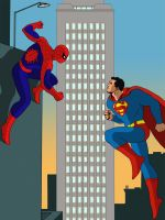 Spiderman VS Superman by farstar09