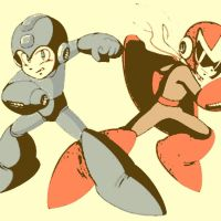 Megaman and Protoman by DevintheCool