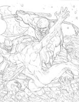 Attack of the Mermen WIP by RudyVasquez