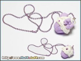 Cupcake Necklace by Fluffntuff